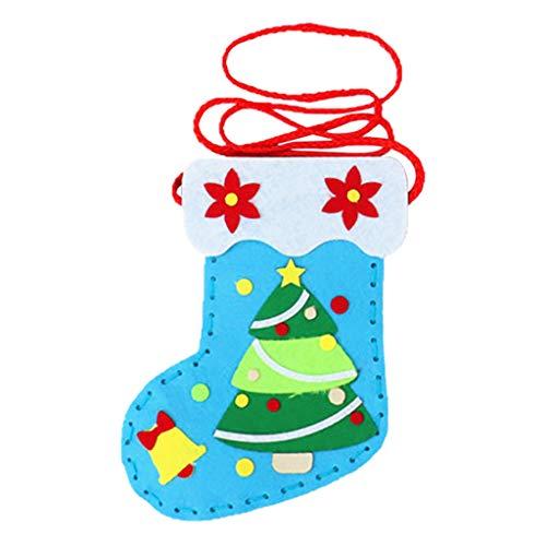 Hiroo DIY Handmade Christmas Socks Exquisite Mini Small Easy to carry Backpack Small Gift Gift Bag Prize Christmas Socks felt cloth 15x20 cm