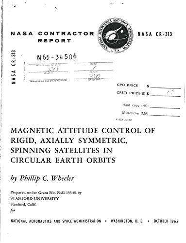 Magnetic attitude control of rigid, axially symmetric, spinning ...