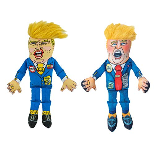 "FUZZU All About Donald Duo: Classic & Special Edition Donald Political Parody Dog Toys – Medium 12"" Size Toy"