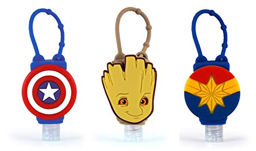 MARVEL 3-Pack Hero Combo Official Licensed Bac-Pac Buddies Hand Sanitizer Travel Size Scented Gel On-the-Go Bottles