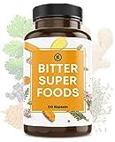 Kastingers® Bitter Superfoods I 120 Bitterstoffe Kapseln aus 11 Kräuter-Pulver wie Löwenzahn, Wermut, Schafgarbe, Wachholder, Galgant, Brennnesseln, Anis, Ingwer, Kurkuma I vegan