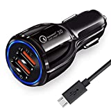 ADVANCE SAFETY: Shoptry Car Charger has a fast charging durable plastic casing and CE, FCC and RoHS certifications and with Built-in protection system against over-current, over-charging and over-heating ensures superior performance, safety and relia...
