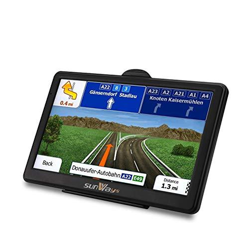 Navigationssystem mit Bluetooth, 8GB, GPS, heller Touchscreen, vorinstallierte Karten für Großbritannien und EU, kostenlose lebenslange Updates