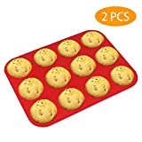 Silicone Muffin Pan, McoMce 100% Food Grade Egg Muffin Tin, Silicone Cupcake Baking Cups BPA Free &...