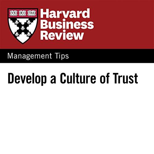 Develop a Culture of Trust audiobook cover art