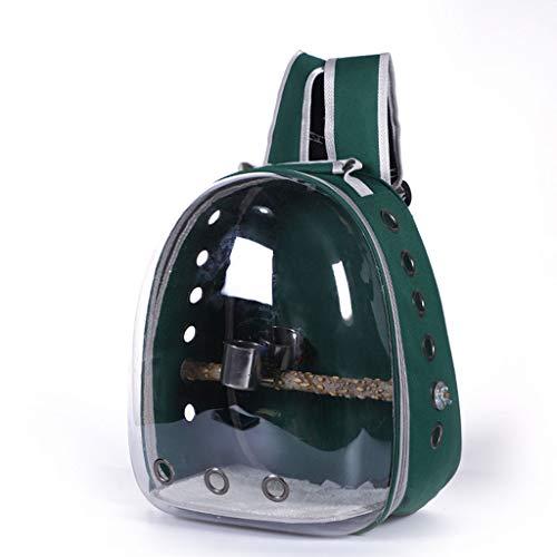 ABBY -J Bciou Bird Parrot Pet Carrier Bolsa rígida para mascotas Gato/Perro Burbuja Mochila Pet Bird Travel Bag