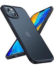 TORRAS 半透明 iPhone 13 用 ケース 6.1インチ 超耐衝撃 米軍MIL規格取得 マット感 黄ばみなし ストラップホール付き 画面保護 レンズ保護 アイフォン 13 用 カバー マットブランク Guardian