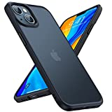 TORRAS Shockproof Compatible for iPhone 13 Case, 8FT Military Drop Protection Translucent Matte Hard Back with Soft Edge Slim Protective Phone Case Designed with iPhone 13 6.1'' 5G 2021 Frosted Black
