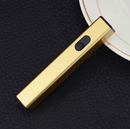 Harddo elektrische aansteker, USB-oplaadbare vlamloze winddichte plasma-elektrische aansteker USB-sigarettenaansteker goud