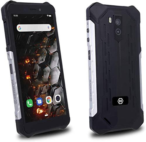 """Hammer Iron 3 LTE 5,5"""" IPS, IP68 - a Prueba de Agua, a Prueba de Golpes, a Prueba de Polvo, Mega-batería 4400mAh, NFC, Octa-Core 2Ghz, Android 9, Dual SIM, 32GB/3GB, 4G, Dual SIM - Plata"""