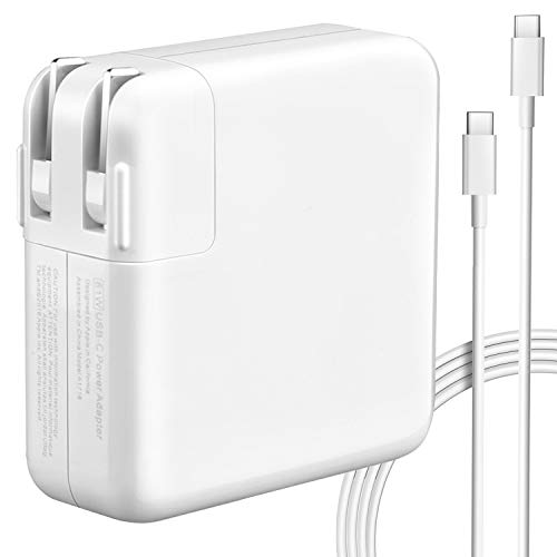 61W USB-C Power Adapter Compatible with New MacBook Pro/Air USB C Charger,Replacement Charger for 2015-Late 2016 2017 2018 2019 MacBook 13-inch,30W/61W/87W Type C Charger with 6.56ft Charge Cable