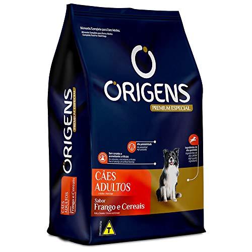 Ração Origens para Cães Adultos sabor Frango e Cereais - 15kg