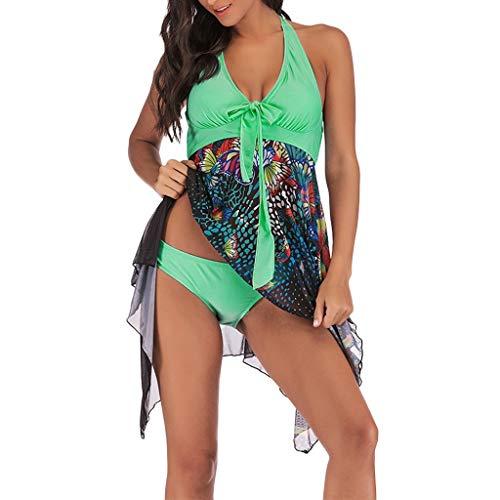 OverDose Damen Damen Overdose Regenbogen Übergröße Bikinis Tankini Swim Kleid Badeanzug Beachwear gepolsterte Bademode damen Plus das Ausmaß Beachwear Badeanzüge Bikini Set