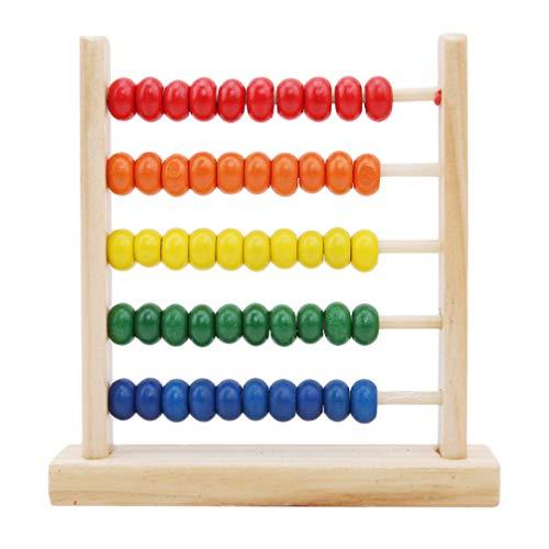 Toporchid Montessori Pädagogisches Babyspielzeug Mini Holz Abacus Kinder Frühe Mathematik Lernspielzeug Zahlen Zählen Berechnen Perlen