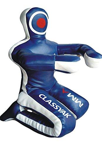 Classyak MMA Jiu Jitsu wrestling blu sacco da allenamento, per arti marziali–vuoto, Synthetic Leather Blue