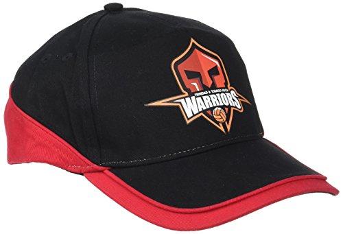Gorra Warriors ajustable. rojo/negro
