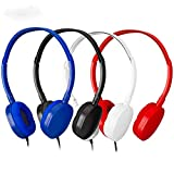 Kids Headphones Classroom Headphones- YMJ(B-4Mixed) 4 Packs Mixed Colors(Each 1 Pack) Headphones for Kids, Classroom, Airplane, Hospiital, Students,Kids and Adults
