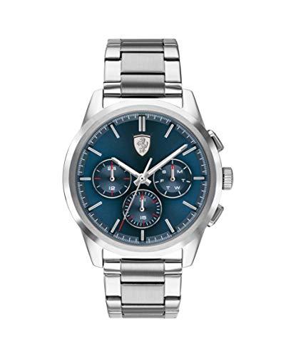 Scuderia Ferrari Herren Analog Quarz Uhr mit Edelstahl Armband 830804