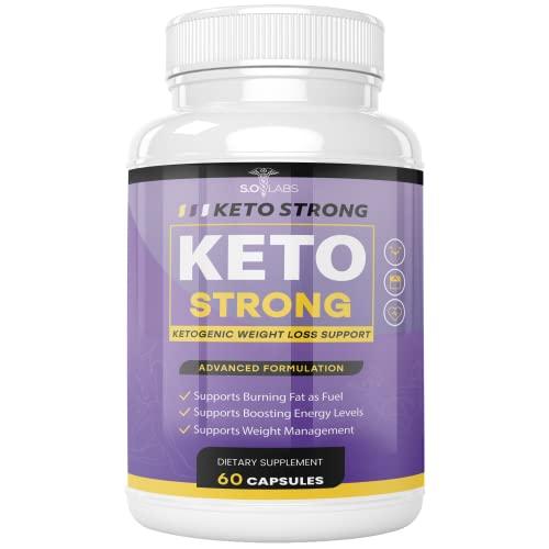 Keto Strong Pills Advanced Ketogenic BHB Ketones (60 Capsules)