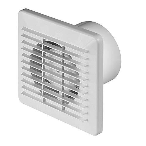 WB100T Basic badkamerventilator, Ø 100 mm, met timer/naloopfunctie, slechts 10 W, ventilator, plafondventilator, wit, 10 cm, WB100T, wandventilator, inbouwventilator, badkamer, keuken, wc, stil
