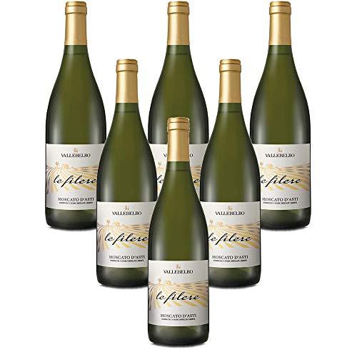 Italienischer Weißwein Moscato d'Asti DOCG Le Filere vino bianco (6 flaschen 75 cl.)