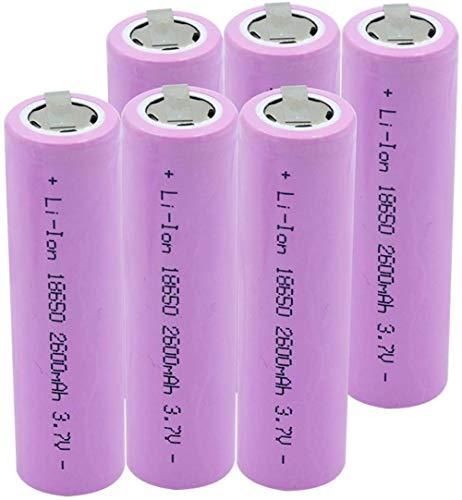 18650 3.7V 2600mAh batería de Litio portátil Control Remoto batería con 2 Etiquetas