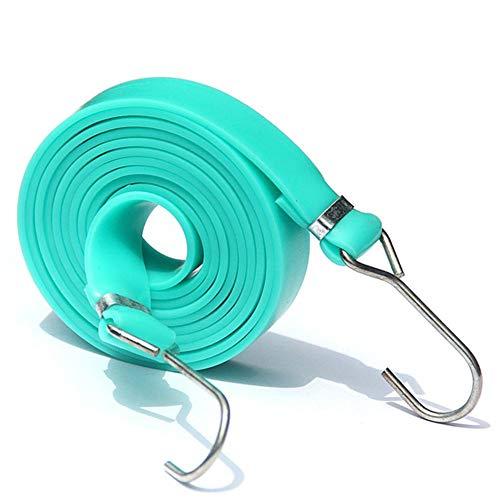 Rubyu bagageband van 1,8 m, elastische spanbanden, verstelbaar elastiek met extra brede draaibare haak