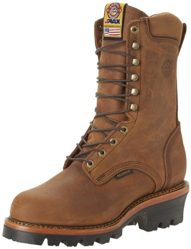 Justin Original Work Men's Jmax Logger Steel Toe,...