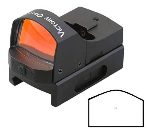 Maximtac Mini Leuchtpunktvisier/Red-Dot mit 4 Beleuchtungsstufen Rotpunktvisier von Victory Optics für Langwaffen
