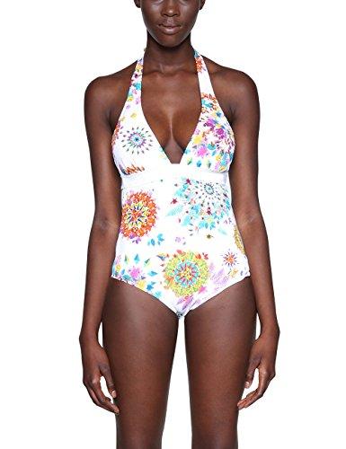 Desigual Biki_Turin Italy, Trikini para Mujer, Blanco (White 1000), ((Talla del Fabricante: Small)
