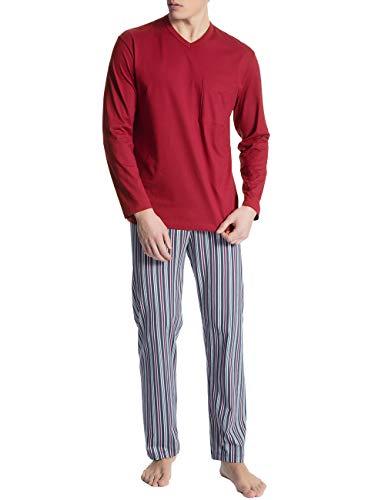 Calida Herren Relax Imprint 1 Zweiteiliger Schlafanzug, Schwarz (Ombre 368), Large (Herstellergröße:L)