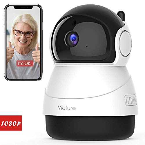 [Stay Strong, USA] Victure 1080P WiFi Pet Camera FHD Indoor Surveillance Security IP Camera with Motion Detection Night Vision 2-Way Audio Cloud Storage for Baby/Elder/Pet Monitor with Camera