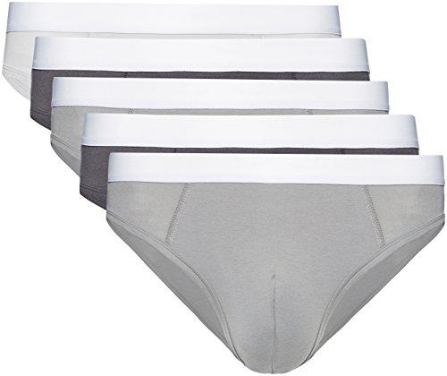 Marca Amazon - find. Slip para Hombre Y-Front, Pack de 3/Pack de 5/Pack de 7/Pack de 10