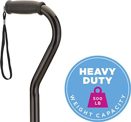 NOVA Medical Products Heavy Duty Quad Cane with Large Base, Black, 4.5 Pound (5710BK)