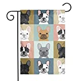 Txocouk French Bulldog Dog Welcome Garden Flag Double Sided,Decorative Garden Flag Yard Banner for Outdoor Decorations(12x18in)