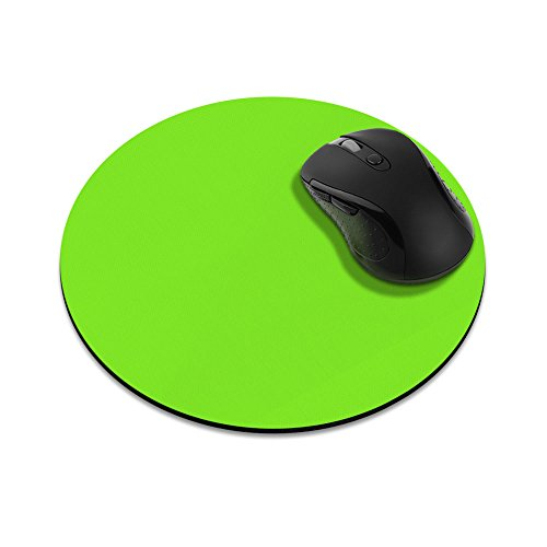 Non-Slip Round Mousepad, FINCIBO Solid Green Mouse Pad for Home, Office and Gaming Desk
