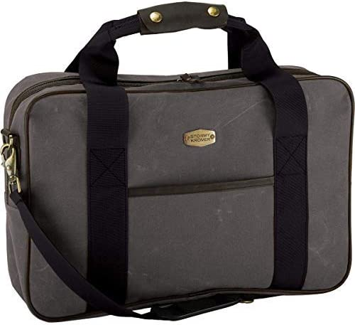 Stormy New Complete Free Shipping color Kromer The Legacy Briefcase Durable Waxed Leath - Cotton