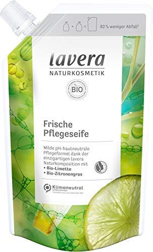 lavera Nachfüllbeutel Frische Pflegeseife • Bio-Limette & Bio-Zitronengras • milde Reinigung • vegan • pH-hautneutral • 6er Pack(6 x 500 ml)