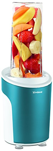 Trisa Electronics Power Smoothie Standmixer, Kunststoff, Blau, Transparent