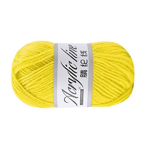 Xisimei - Lana de primera calidad de 100% lana acrílica, fácil de procesar, versátil, cálida, suave, no pica, 50 g, aprox. 140 m, antracita, color cálido (D).