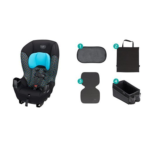 Cheapest Price! Evenflo Sonus Convertible Car Seat, Boomerang Blue with Car Seat Accessory Kit