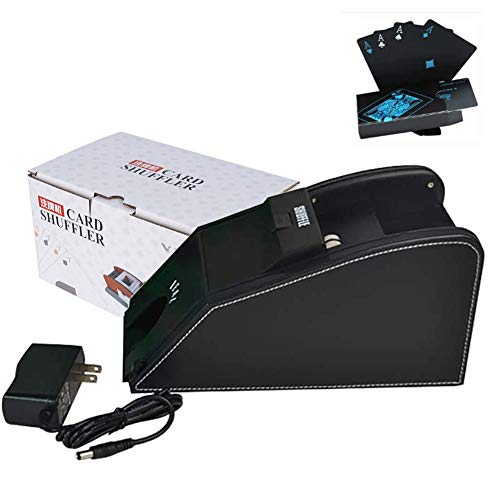 Douup Automatic Card Shuffler, Electronic Professional Card Shuffler 2 in 1, Quiet, Great for Home, Tournament Use for Classic Poker-Trading Card Games