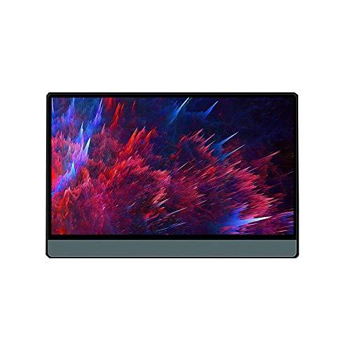 Fesjoy T13A - Monitor portátil de 13,3'' (HD 1080P IPS, compatible con conmutador/PS3/PS4/PC/portátil, enchufe europeo)