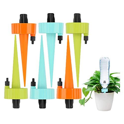 令和2年進化版 T&Kira 自動給水キャップ 水やり当番 じょうろ 自動水やり器 植物 自動給水器 水遣り機 自動散水システム リサイクル ガーデニング 園芸 植物 盆栽 野菜 留守用に (6本セット)