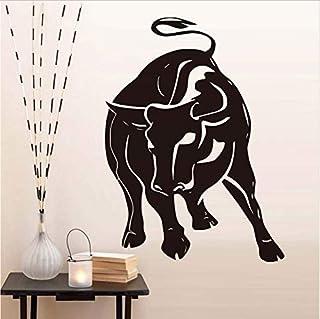 Raging Bull Muursticker voor Woonkamer Decoratie Hollow Out Animal Vinyl Zelfklevende Behang Decals Home Decor 58X43Cm Muu...