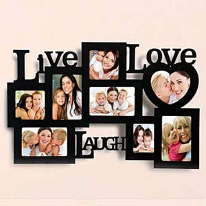 MyPhotoPrint.in Personalized Live Love Laugh Photo Frame Collage 8 Photos Best Customized/Personalized Gifts | Birthday Gifts, Best Gift for Girlfriend 34577808