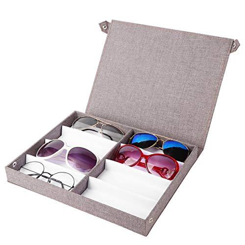 Caja de almacenamiento de gafas transpirable con botón