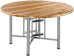 SHLDDZ Table Pliante Grande Table Ronde Table à Manger Maison Table à Manger Petit Appartement Simple Bureau Plat Rond en Bois Massif Bureau pour Enfants