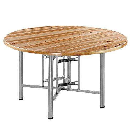 EVERAIE Computertisch, Runder Esstisch mit Klappstütze/Couchtisch-Natural/Grey Heimarbeitsplatz