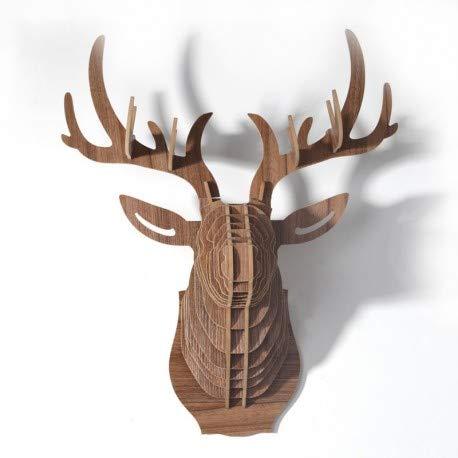 Le comptoir canadien - Tête de cerf en Bois - TCeWBS1 - Small - Naturel